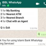 IBBL WhatsApp Banking Services 14